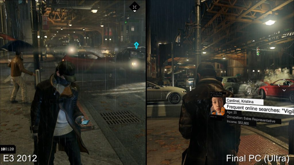 Watch Dogs E3 downgrade graphics