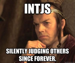 INTJ type judges